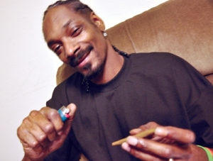 Snoop Dogg Smoking a Blunt